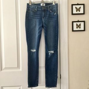 PAIGE   Verdugo Ankle Busted Knee Jeans